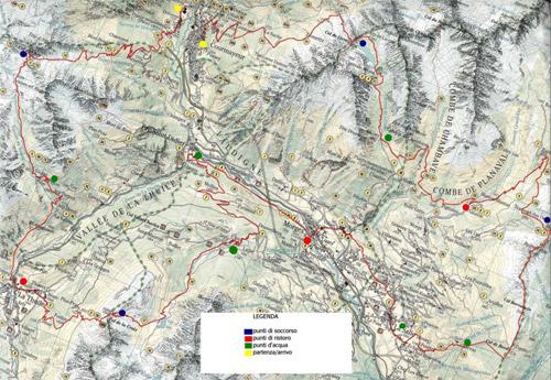 Gran Trail del Valdigne: cartografia