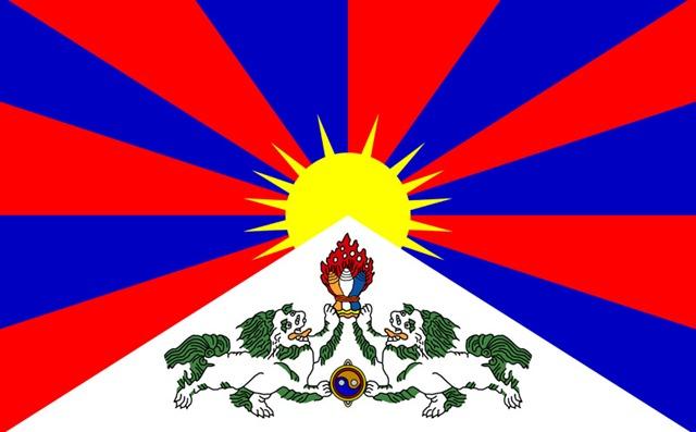チベットの旗は、「雪山獅子旗」である。この雪山獅子旗のデザインを考案したのが、日本のチベット研究者で1912年のラサ入りした青木文教か、矢島保治郎。