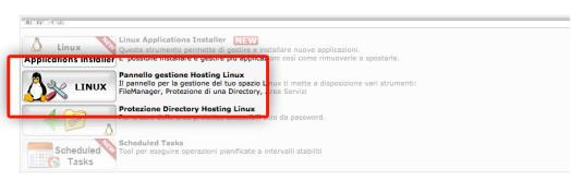 Xdebug && MAMP - step 2, scegliere l'amministrazione dell'hosting linux