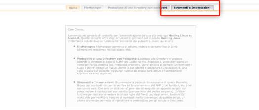 """Xdebug && MAMP - step 3, scegliere """"strumenti ed impostazioni"""""""