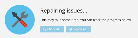 Plesk repairing issues
