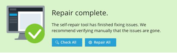 Plesk repairing complete